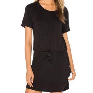 Chaser Black Drape Back Pocket Mini Dress M
